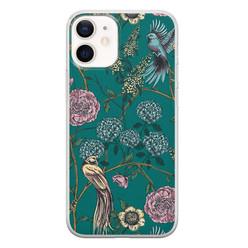 Telefoonhoesje Store iPhone 12 mini siliconen hoesje - Bloomy birds