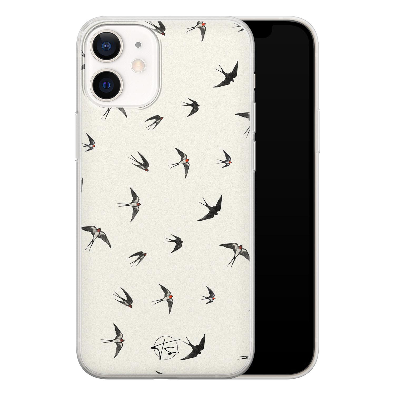 Telefoonhoesje Store iPhone 12 mini siliconen hoesje - Freedom birds