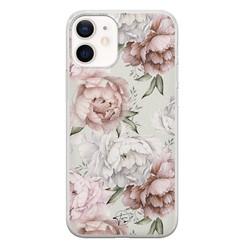 Telefoonhoesje Store iPhone 12 mini siliconen hoesje - Classy flowers
