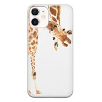Leuke Telefoonhoesjes iPhone 12 mini siliconen hoesje - Giraffe