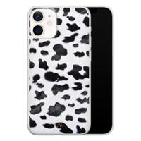 Telefoonhoesje Store iPhone 12 mini siliconen hoesje - Koeienprint