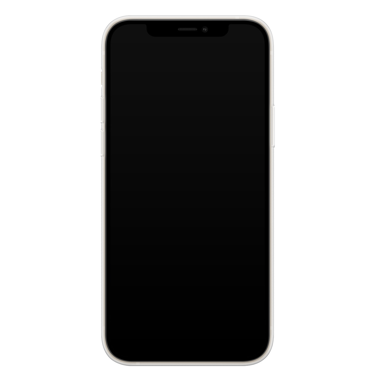 Leuke Telefoonhoesjes iPhone 12 mini siliconen hoesje - Cactus hartjes