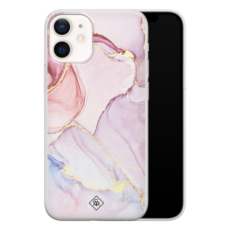 Casimoda iPhone 12 mini siliconen hoesje - Marmer paars