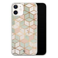 ELLECHIQ iPhone 12 mini siliconen hoesje - Pastel Kubus