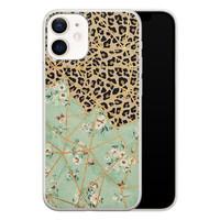 Leuke Telefoonhoesjes iPhone 12 mini siliconen hoesje - Leo Flower