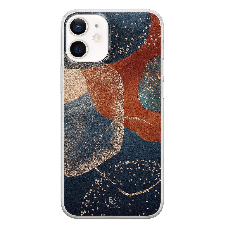 ELLECHIQ iPhone 12 mini siliconen hoesje - Abstract Terracotta