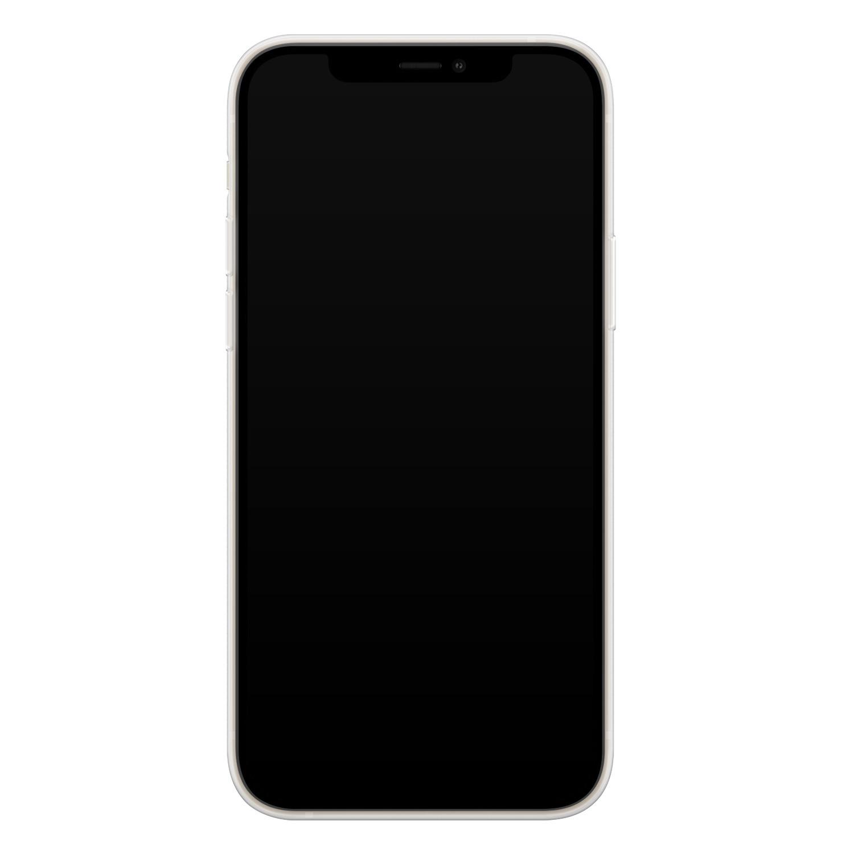 Telefoonhoesje Store iPhone 12 mini siliconen hoesje - Abstract blauw
