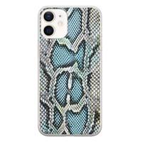 ELLECHIQ iPhone 12 mini siliconen hoesje - Baby Snake blue