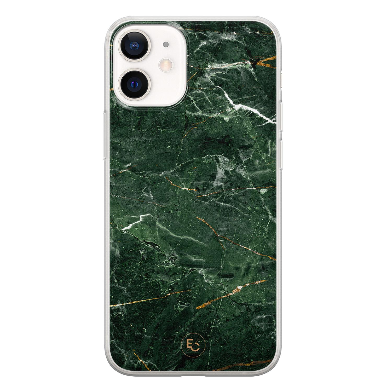 ELLECHIQ iPhone 12 mini siliconen hoesje - Marble jade green