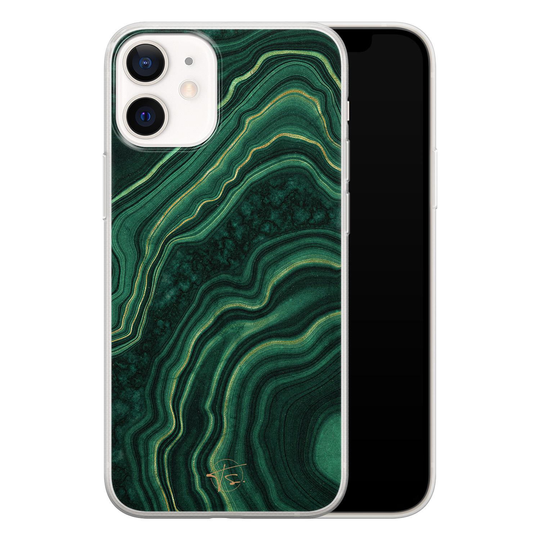 Telefoonhoesje Store iPhone 12 mini siliconen hoesje - Agate groen