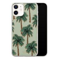 Telefoonhoesje Store iPhone 12 mini siliconen hoesje - Palmbomen