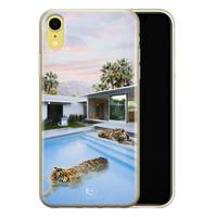 ELLECHIQ iPhone XR siliconen hoesje - Tiger pool