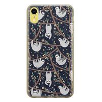 Telefoonhoesje Store iPhone XR siliconen hoesje - Luiaard