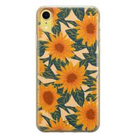Telefoonhoesje Store iPhone XR siliconen hoesje - Zonnebloemen