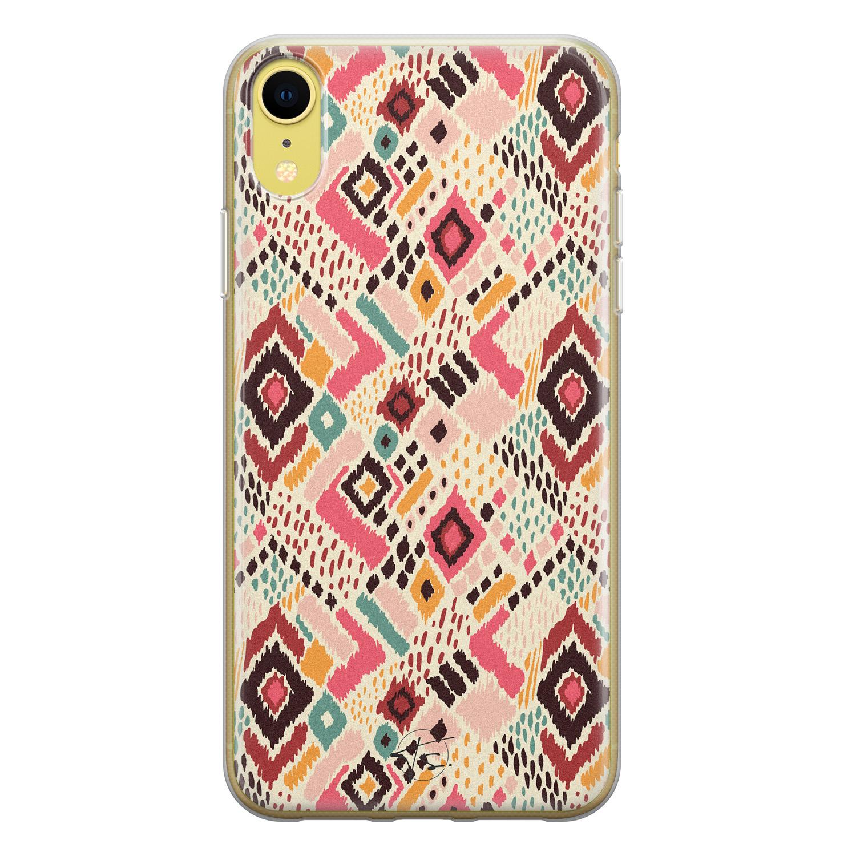 Telefoonhoesje Store iPhone XR siliconen hoesje - Boho vibes