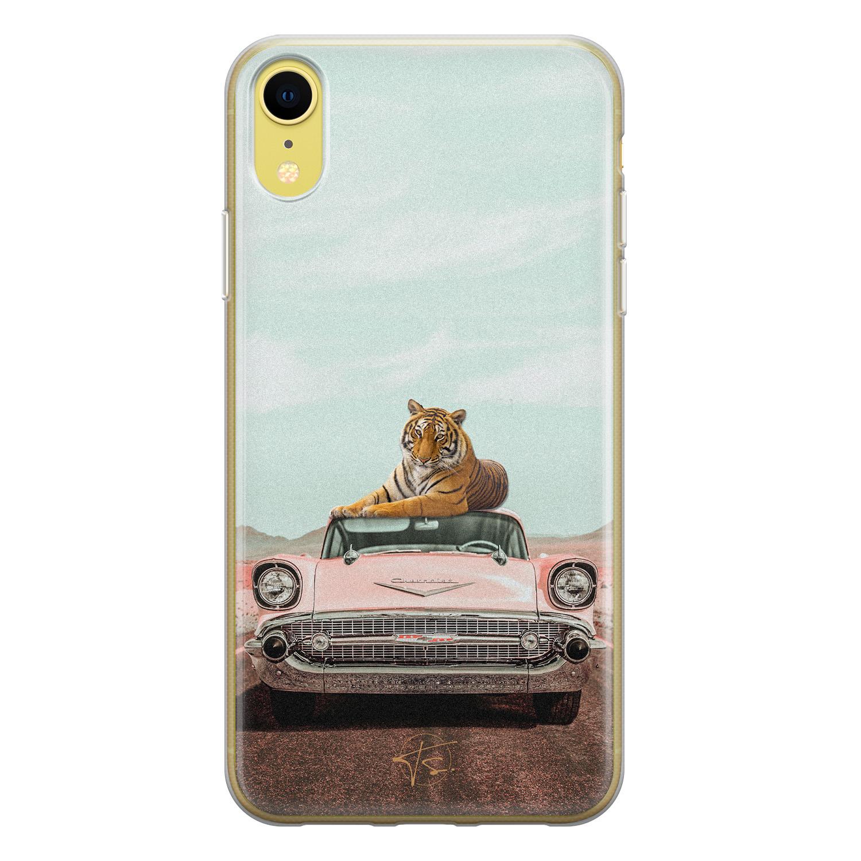 ELLECHIQ iPhone XR siliconen hoesje - Chill tijger