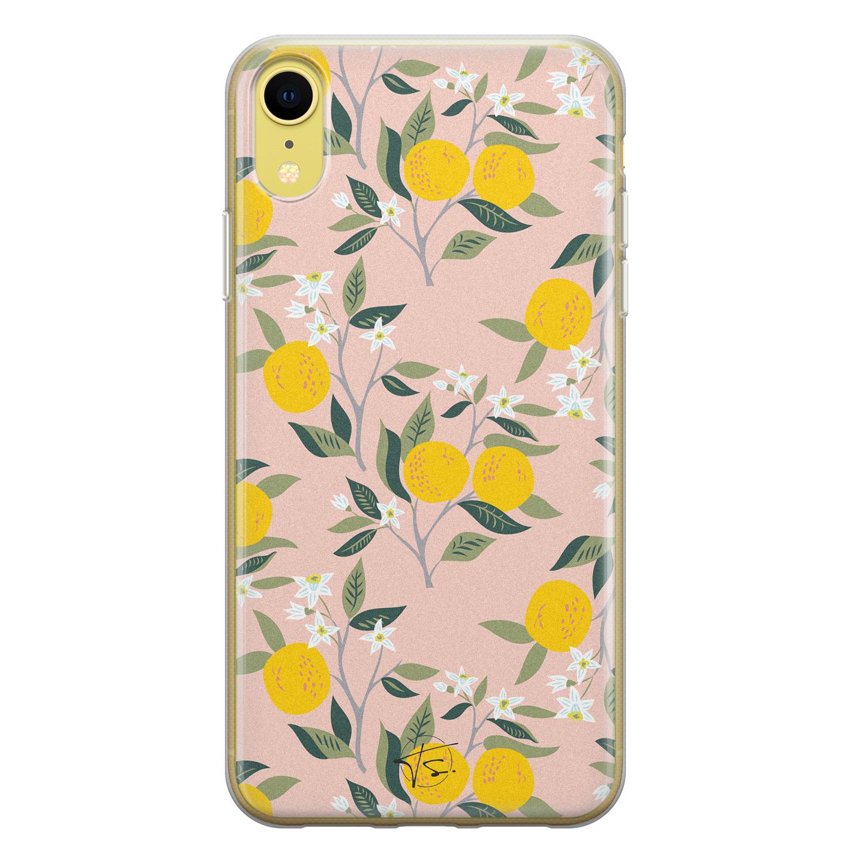 Telefoonhoesje Store iPhone XR siliconen hoesje - Citroenen