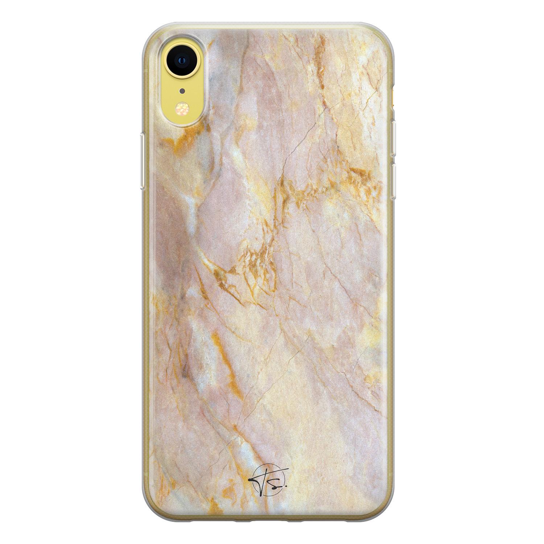 ELLECHIQ iPhone XR siliconen hoesje - Stay Golden Marble