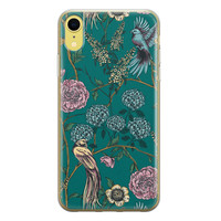 Telefoonhoesje Store iPhone XR siliconen hoesje - Bloomy birds