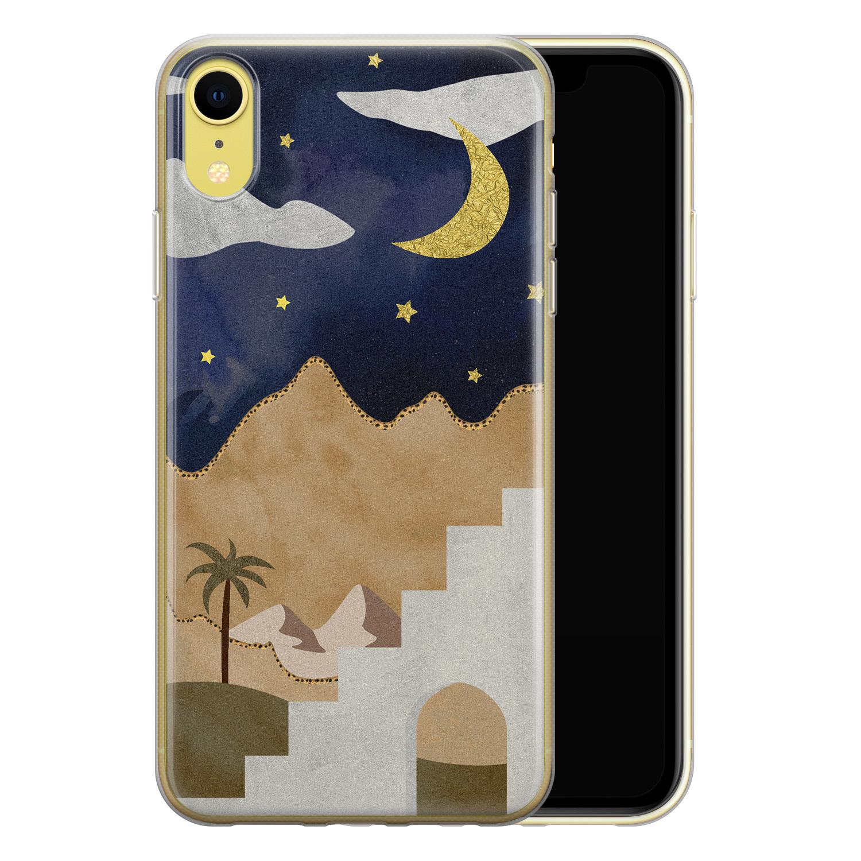 Leuke Telefoonhoesjes iPhone XR siliconen hoesje - Woestijn