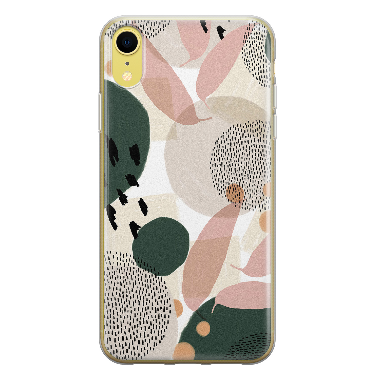 Leuke Telefoonhoesjes iPhone XR siliconen hoesje - Abstract