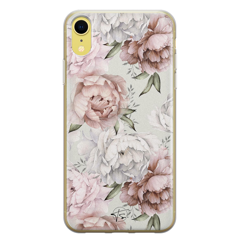 Telefoonhoesje Store iPhone XR siliconen hoesje - Classy flowers