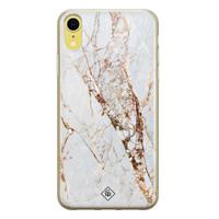 Casimoda iPhone XR siliconen hoesje - Goud marmer