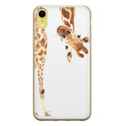 Leuke Telefoonhoesjes iPhone XR siliconen hoesje - Giraffe