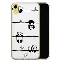 Telefoonhoesje Store iPhone XR siliconen hoesje - Panda