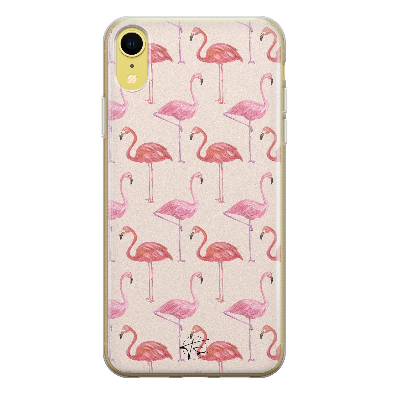 Telefoonhoesje Store iPhone XR siliconen hoesje - Flamingo
