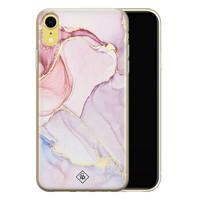 Casimoda iPhone XR siliconen hoesje - Marmer paars