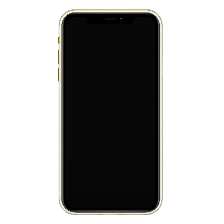 ELLECHIQ iPhone XR siliconen hoesje - Pastel Kubus