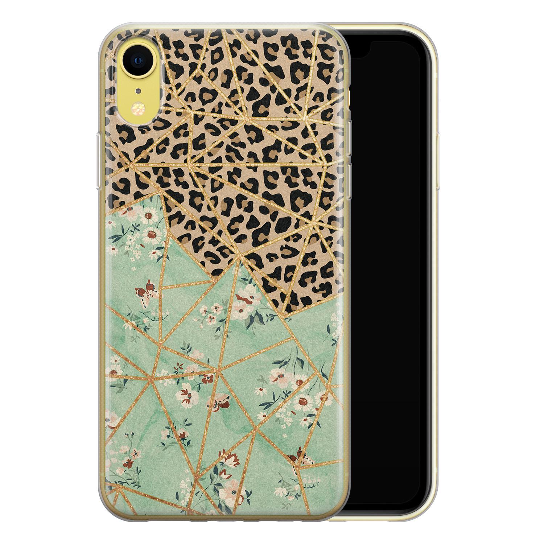 Leuke Telefoonhoesjes iPhone XR siliconen hoesje - Leo Flower