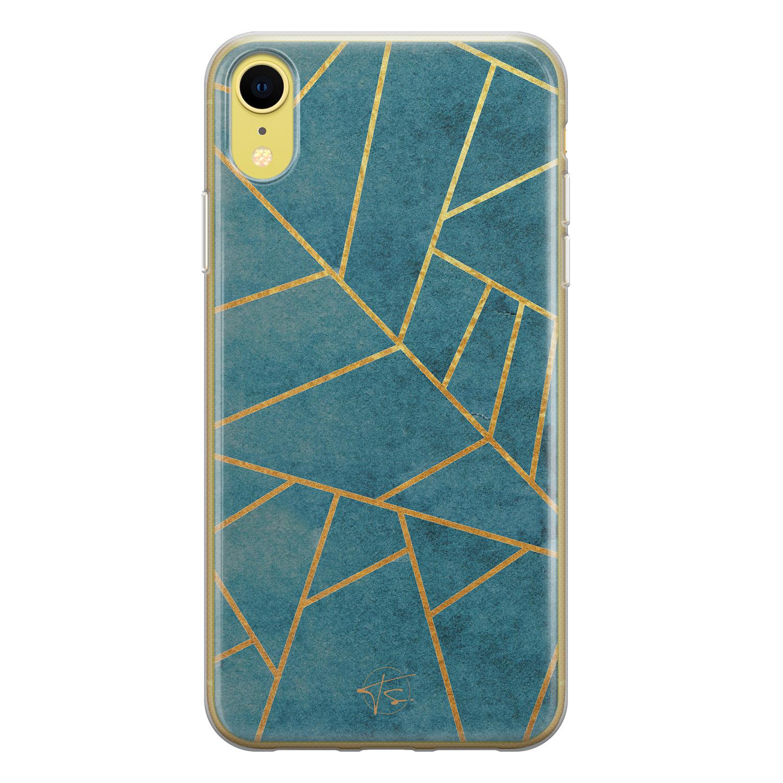 Telefoonhoesje Store iPhone XR siliconen hoesje - Abstract blauw