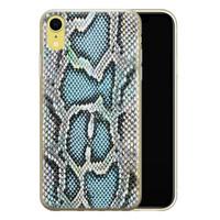 ELLECHIQ iPhone XR siliconen hoesje - Baby Snake blue
