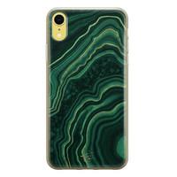 Telefoonhoesje Store iPhone XR siliconen hoesje - Agate groen