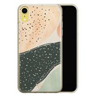Telefoonhoesje Store iPhone XR siliconen hoesje - Abstract peach