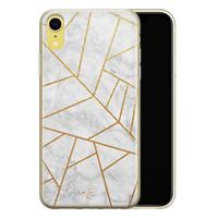 Telefoonhoesje Store iPhone XR siliconen hoesje - Geometrisch marmer