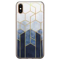 Telefoonhoesje Store iPhone X/XS siliconen hoesje - Geometrisch fade art