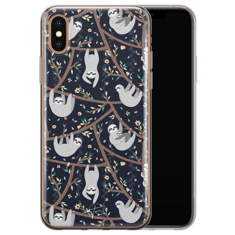 Telefoonhoesje Store iPhone X/XS siliconen hoesje - Luiaard