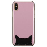 Telefoonhoesje Store iPhone X/XS siliconen hoesje - Zwarte kat