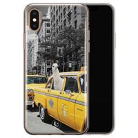ELLECHIQ iPhone X/XS siliconen hoesje - Lama in taxi