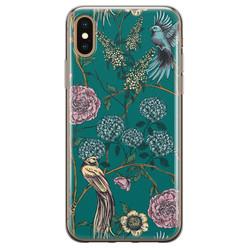 Telefoonhoesje Store iPhone X/XS siliconen hoesje - Bloomy birds