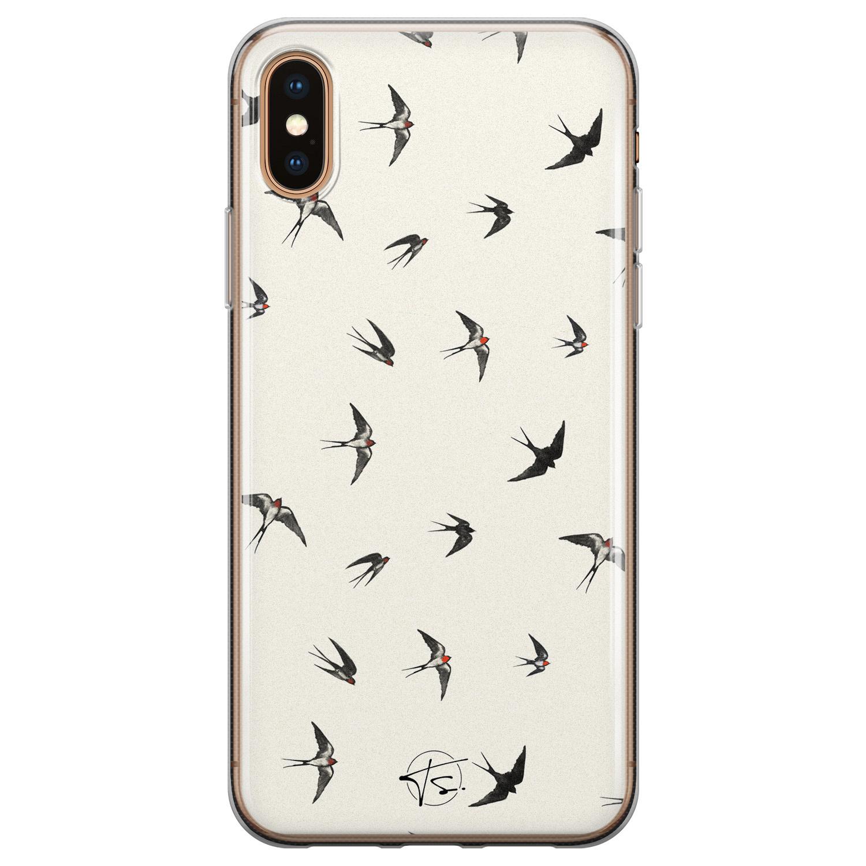 Telefoonhoesje Store iPhone X/XS siliconen hoesje - Freedom birds