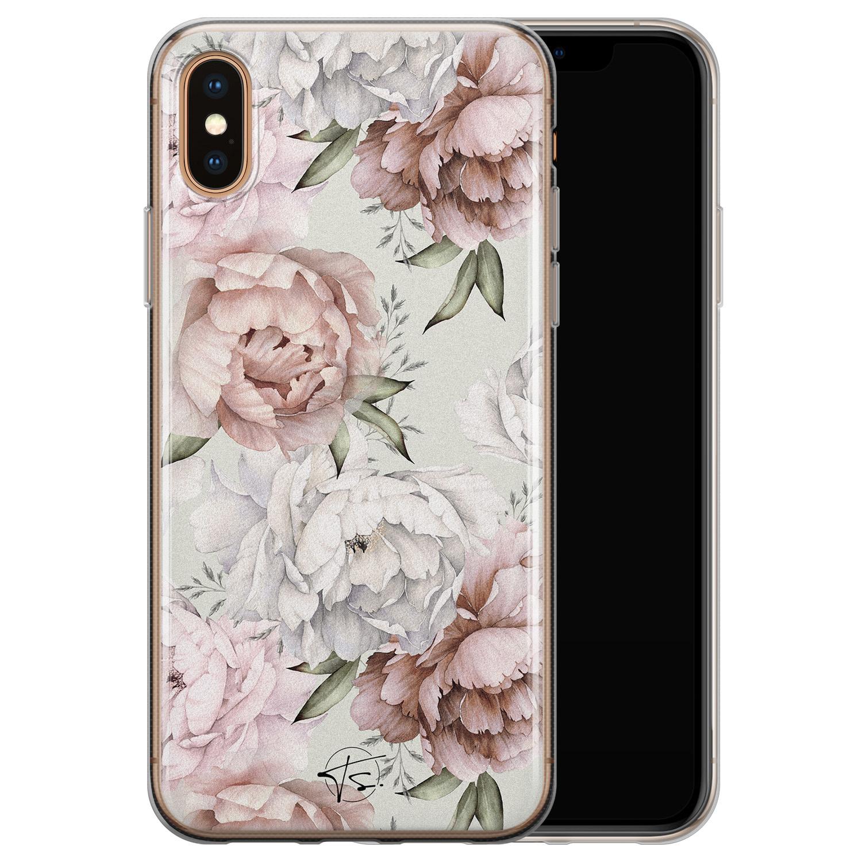 Telefoonhoesje Store iPhone X/XS siliconen hoesje - Classy flowers