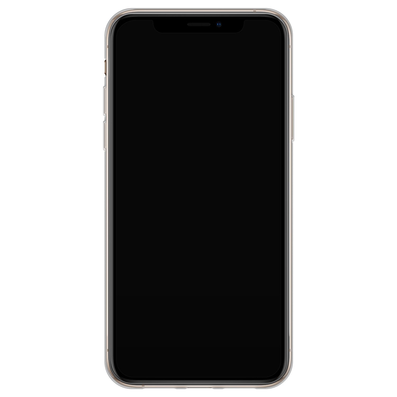 Leuke Telefoonhoesjes iPhone X/XS siliconen hoesje - Abstract face line