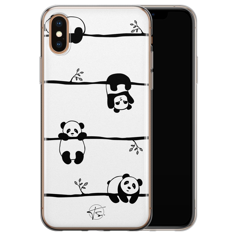Telefoonhoesje Store iPhone X/XS siliconen hoesje - Panda