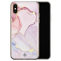 Casimoda iPhone X/XS siliconen hoesje - Marmer paars