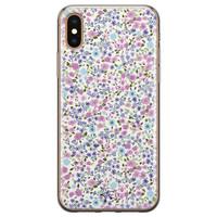 Telefoonhoesje Store iPhone X/XS siliconen hoesje - Purple Garden