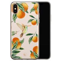 ELLECHIQ iPhone X/XS siliconen hoesje - Tropical Lemonade